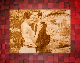 5 Year Anniversary, 5th Anniversary Gift, Photo on Wood, Wedding Anniversary, Personalized Sign, Custom Wood Gift, Your Picture on Wood, 5th