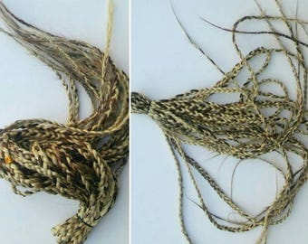 Blonde reusable box braids / reusable crochet braids / long thin braids in dirty blonde box braids/ accent loc Extensions MYHAIRANDSTUFF