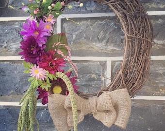 18 inch Grapevine seasonal floral wreath