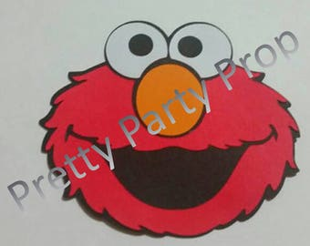 Set of 10  5' Elmo die cuts, Elmo cut out, Elmo scrapbooking