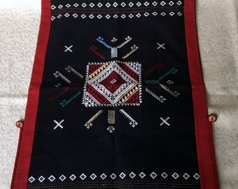 American Indian Indigenous Art- Hand Embroidered Wall Decor