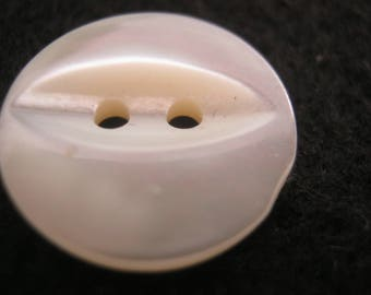 10 piece of mother-of-Pearl buttons of white silver, diameter ca. 16 mm, new, Lübeck button Manufactory