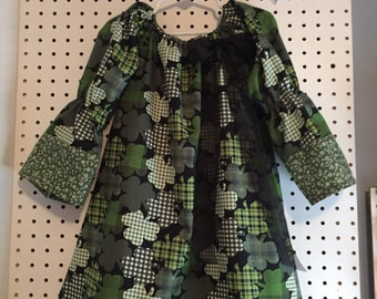 St. Patrick's Day - wearing of the green shamrocks - sizes 3T and 4T