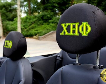 Chi Eta Phi Sorority Auto SUV Head Rest Covers