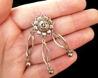 Pendant - Vintage Pendant - Flower Pendant - Pendant Necklace - Healing Jewelry - Vintage - Accessories - Gift Ideas - Botanical Jewelry