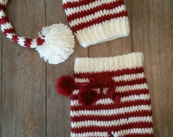 Cute crochet baby prop outfit
