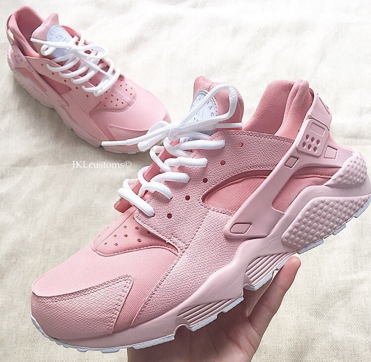 baby pink full nike air huarache baby pink sole baby by. Black Bedroom Furniture Sets. Home Design Ideas