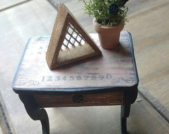 Miniature Dolls House Triangular Shelf - Gothic Shelf - Industrial - Doll House Furniture