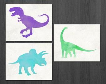 Dinosaur Prints - Dinosaur Art - Dinosaur Decor - Dinosaur Wall Art - Dinosaur Poster - Dinosaur Print - Dinosaur Nursery - Nursery Decor