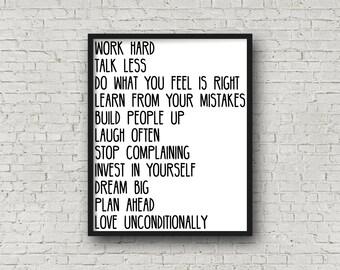 Dream Big, Printable Art, Inspirational Wall Art, Motivational Poster, Printable Quote, Inspirational Quote, Wall Art Print, Printable Quote