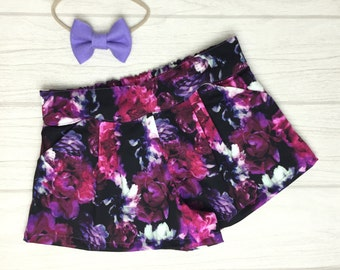Girls Rose Floral Shorts - size 2-10