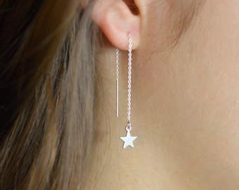how to wear threader earrings