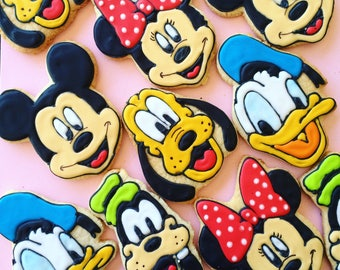 DISNEY Inspired Decorated Sugar Cookies | Mickey Mouse Minnie Donald Duck Goofy Pluto Inspired | Vintage Gift Set