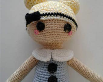 "Alice in wonderland inspired super cute amigurumi/ crochet ""Alice"" doll/ rag doll"
