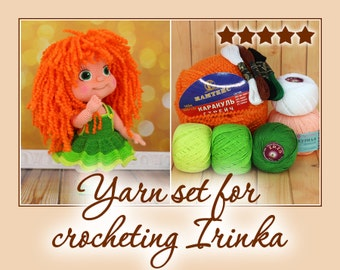 Yarn set for crocheting Irinka