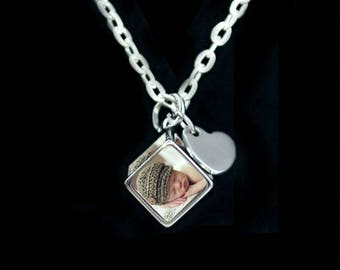 "6 of your Photos on 1 Pendant ""EMBELLISHED LOVE"""