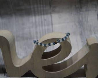 Strap elastic cream blue