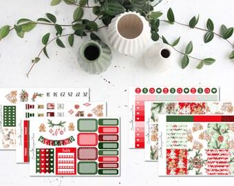 GINGERBREAD || Weekly Sticker Kit (100+ Planner Stickers) || Erin Condren, Happy Planner, Recollections || SeattleKangarooPlans