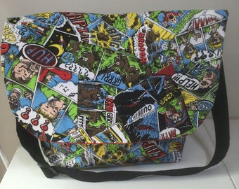 Comic messenger bag