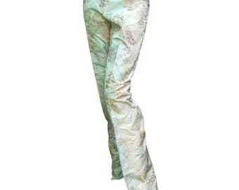 Alexander McQueen Brocaded Silk Trousers. Vintage.