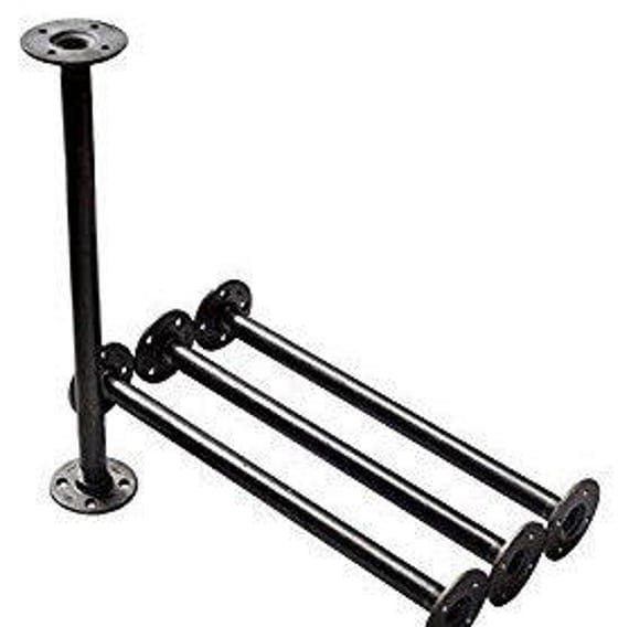 Industrial Black Iron Pipe Table Legs INCLUDES 4 Complete
