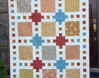 Modern Lap Quilt, Quilts for Sale, Handmade Quilt, Country Quilt, Blanket Ready to Ship