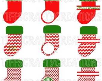 Christmas svg christmas design svg stocking monogram christmas svg files christmas cricut holiday vector holiday svg stocking cut files