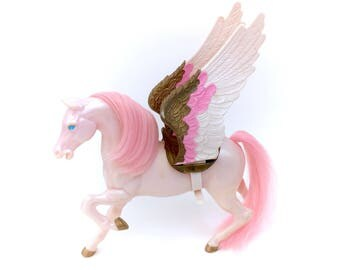 Vintage She-Ra Swiftwind Pink Horse Complete Wings Saddle Eternia Adora MOTU POP Princess of Power 1984 Masters Of Universe Shera 80s He-man