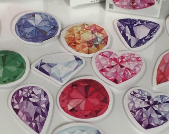 Precious Gem Stones Sticker SET-  45 Pieces