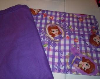 Sophia Blanket - Princess Sophia Blanket - Sophia the First Blanket - Fleece Blanket -  Fleece Tie Blanket - No Sew - Hand Tied -