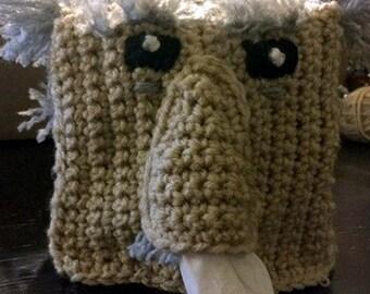 Sneezy Grandpa Tissue Box Cover Crochet Pattern