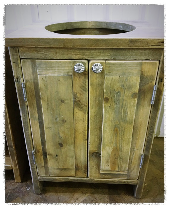 York Reclaimed Wood Washstand Handmade Bespoke By