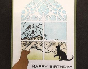 Dog & Cat Window Card