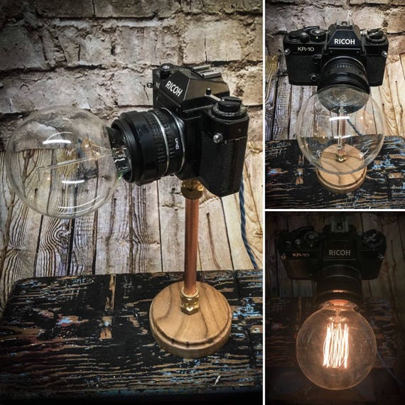 Vintage Ricoh SLR camera lamp