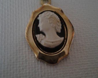 Vintage cameo necklace charm