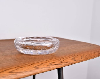 Vintage/Retro Whitefriars Clear Controlled Bubble Art Glass Bowl