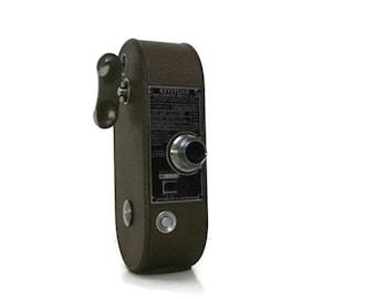 Vintage Keystone 8MM Camera Model K-36 | Old Movie Camera Keystone Mfg. Co. | 1950's Small Industrial Keystone Movie Camera Metallic Bronze