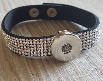 Extreme sparkle rhinestone Snap Button Bracelet (Shop Owner Favorite)