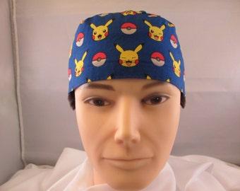 Men's Scrub Hat Blue Pokemon