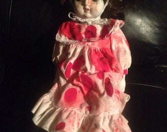 Musical horror pot doll vintage blood halloween scary gothic gift christmas gift