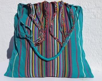 Hand maid waist loom mexican rebozo bag