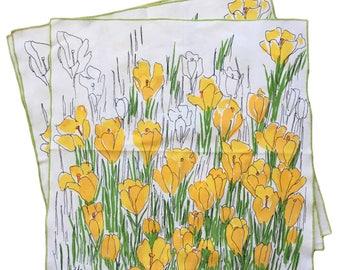 Vintage VERA NEUMANN Set Of 3 Retro Floral Printed Cotton Napkins