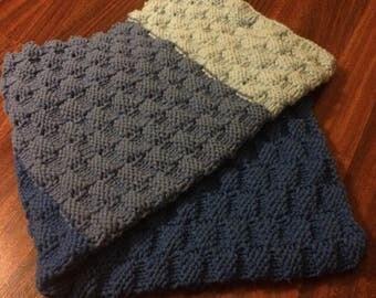 Handknit Baby or Lap Blanket