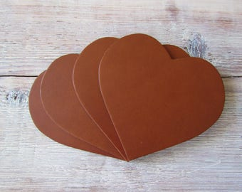 Heart Tan Coaster Box Of 4