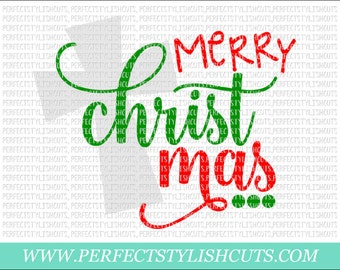 Christmas Svg - Merry Christmas Svg, Christ Mas Svg, DXF Files, EPS, PNG Files for Cricut or Cameo - Nativity Svg, Cross Svg