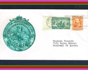 Newfoundland Commemorative First Day of Issue Cover - 1949