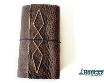 RG XL Traveler's notebook  brown leather- midori like- fauxdori