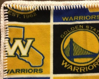 Golden State Warriors Fleece Baby Blanket, GS Warriors Soft Baby Blanket, Basketball Baby Blanket, Warriors Fleece Baby Blanket