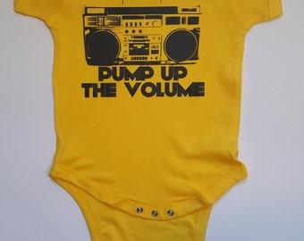Custom Onesie Pump Up The Volume - Boom Box
