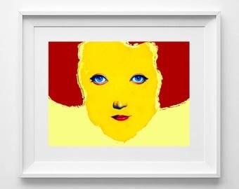 MARLENE. Print on paper 200gr. 21x26.5 centimeters.